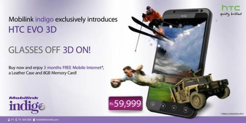 HTC Evo 3D - Mobilink, Android Phones in Pakistan