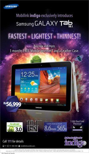 Samsung Galaxy Tab 10.1 by Mobilink