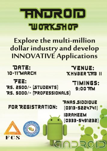 Android Workshop at FAST University