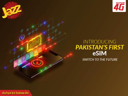 Jazz 4G, eSIM Pakistan